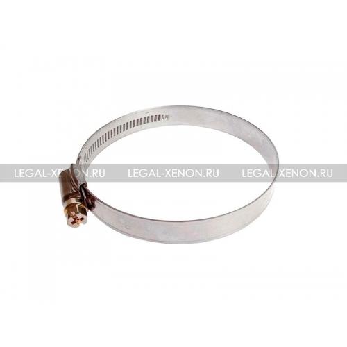 Хомут стальной ленточный нержавеющий 90-110мм
