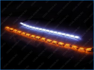 "Гибкие ходовые огни LX CRYSTAL DRL S8 с ""бегущим"" повторителем поворота"