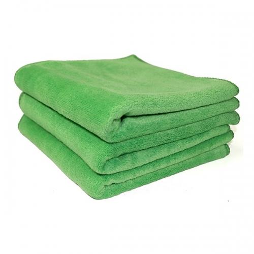 Полотенце микрофибра 400GSM - цвет зеленый