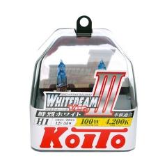 Галогенные лампы Koito WhiteBeam ver.3 +80% H1