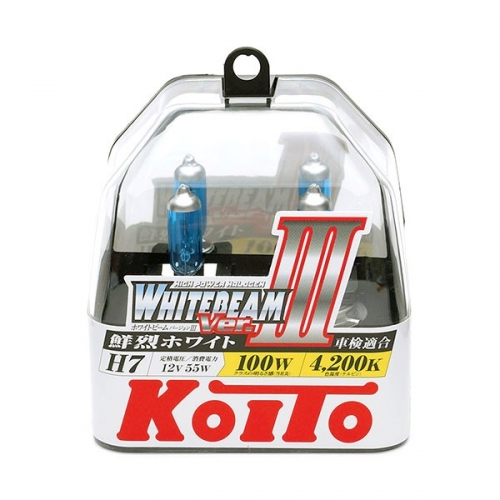 я Галогенные лампы Koito WhiteBeam ver.3 +80% H7