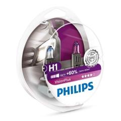 Галогенные лампы Philips VisionPlus H1 +60%