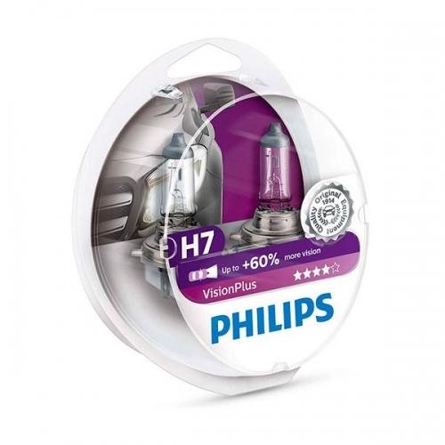 Галогенные лампы Philips VisionPlus H7 +60%