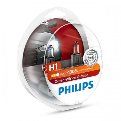 Галогенные лампы Philips X-tremeVision G-force H1 +130%