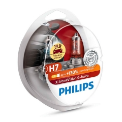 Галогенные лампы Philips X-tremeVision G-force H7 +130%