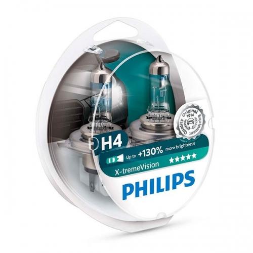 я Галогенные лампы Philips X-tremeVision H4 +130%