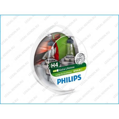 я Галогеновые лампы Philips LongLife EcoVision H4