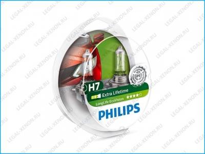 я Галогеновые лампы Philips LongLife EcoVision H7 (12972LLECOS2)