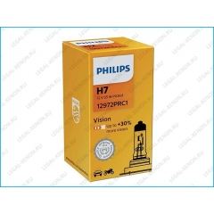 я Галогеновая лампа Philips Vision H7 +30%