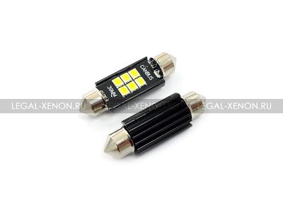 Светодиодная лампа C5W-39-SMD3030-6 размер 39мм