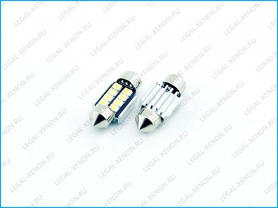 Светодиодная лампа C5W-SMD2835-8 размер 31мм
