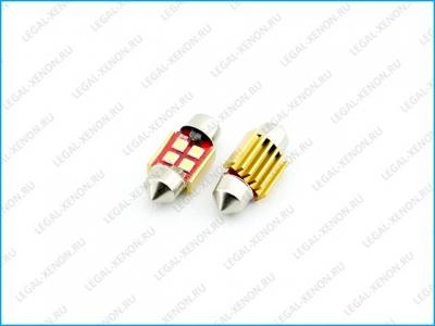 Светодиодная лампа C5W-SMD3030-4 размер 31мм
