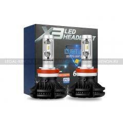 Светодиодные лампы LX ZES X3 PLATINUM цоколь H8 / H11
