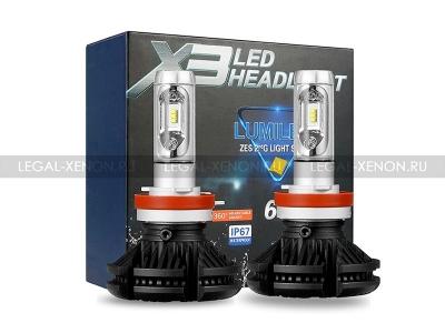 Светодиодные лампы LX ZES X3 цоколь HB3