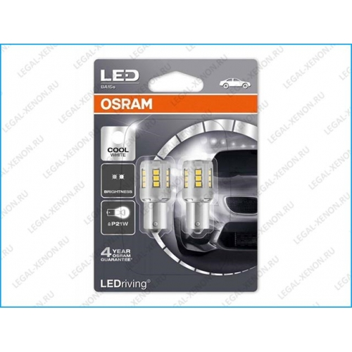 я LED лампы Osram LEDriving Standard P21/5W 6000K (1457CW02B)