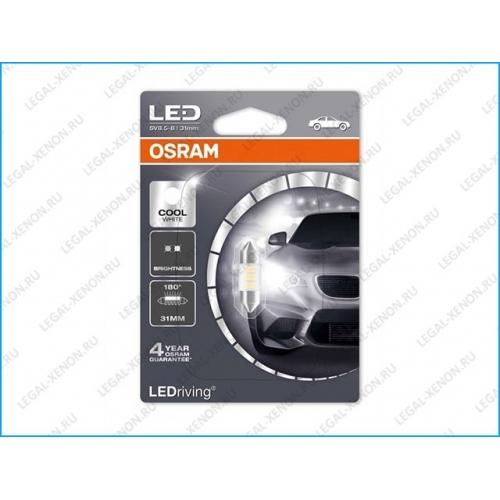 я LED лампа Osram LEDriving Standard C5W Cool White 31мм (6431CW01B)