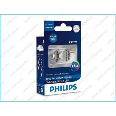 я Светодиодная лампа Philips X-tremeUltinon LED W21W 6000K