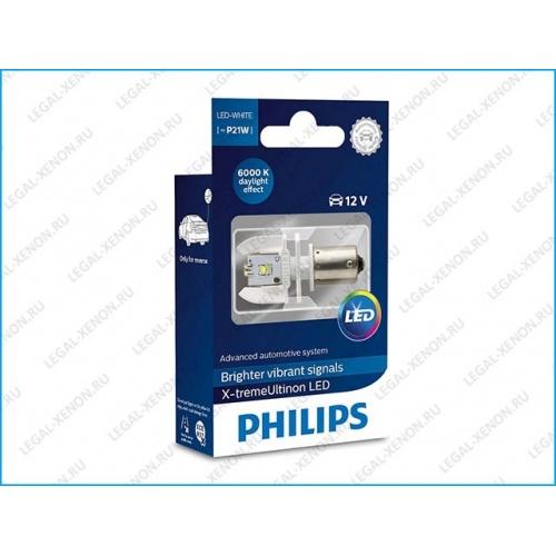 я LED лампа Philips X-tremeUltinon LED P21W 6000K (12898X1)