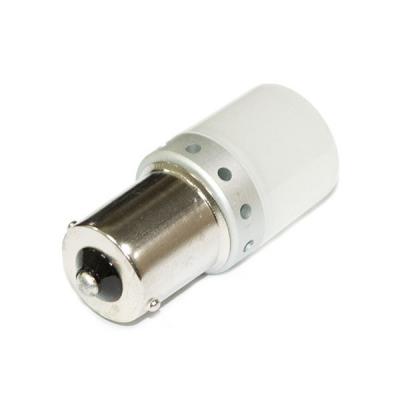 Светодиодная лампа PY21-3030-9 (BAU15s) с рассеивателем - свет желтый