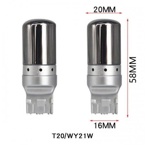 LED лампы поворота WY21-3014-MIR (7440) с зеркальным покрытием