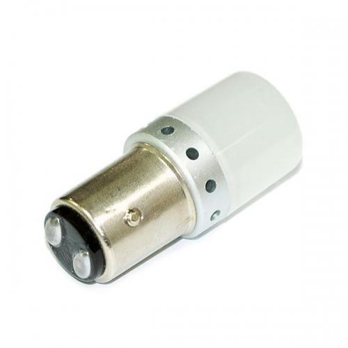 Светодиодная лампа P21/4W-3030-9 (BA15d) с рассеивателем - свет белый