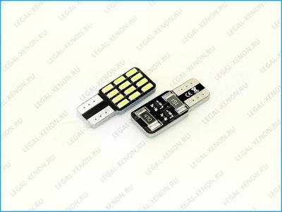 Светодиодная лампа (W5W) T10-SMD4014-12