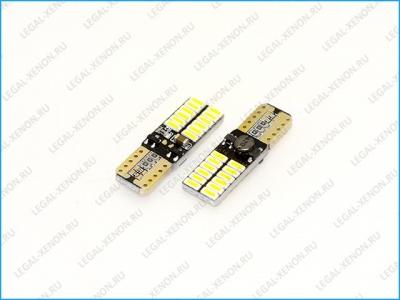 Светодиодная лампа (W5W) T10-SMD4014-24