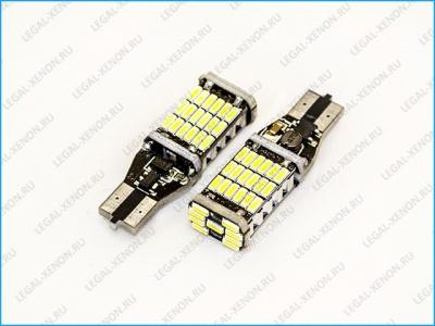 Светодиодная лампа (W16W) T15-SMD4014-45