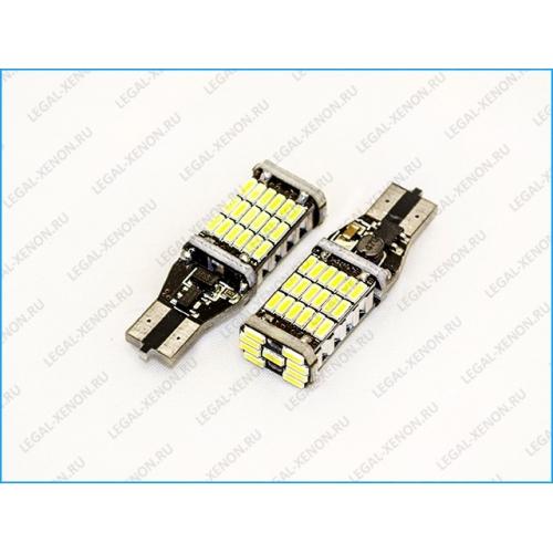 LED лампа (W16W) T15-SMD4014-45 цвет белый