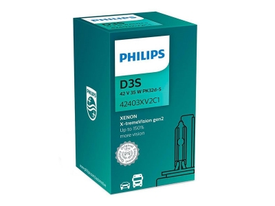 Ксеноновая лампа PHILIPS D3S X-tremeVision gen2 +150% (42403XV2C1)