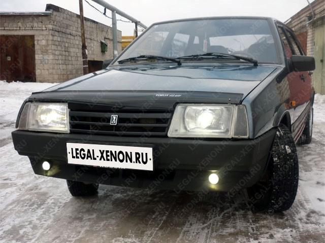 Установка линз в фары Лада 2109 в Ростове-на-Дону